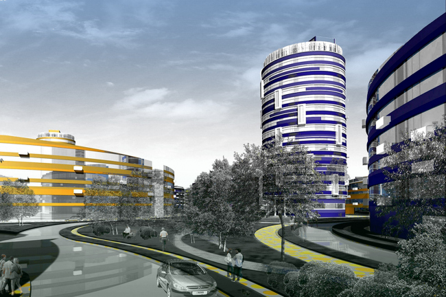 Панорама Центрального бульвара. 3-D визуализация