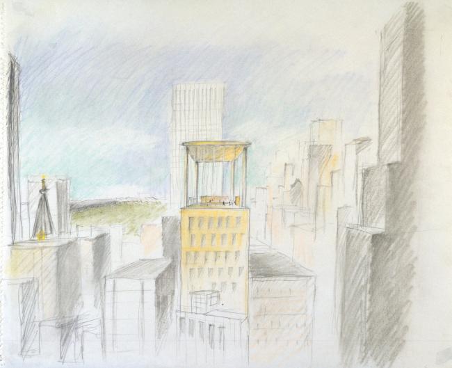 Башня LVMH. Эскиз © Atelier Christian de Portzamparc