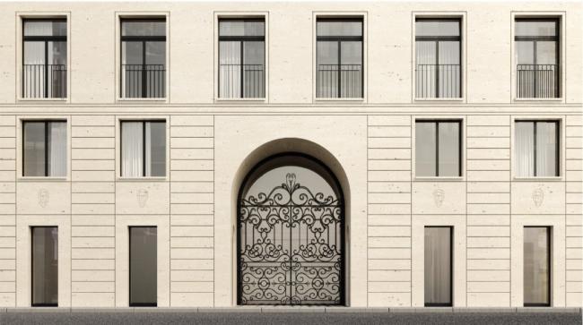 Жилой дом в Хамовниках. Фасад © Цимайло, Ляшенко и Партнеры. Предоставлено пресс-службой «Москомархитектуры»