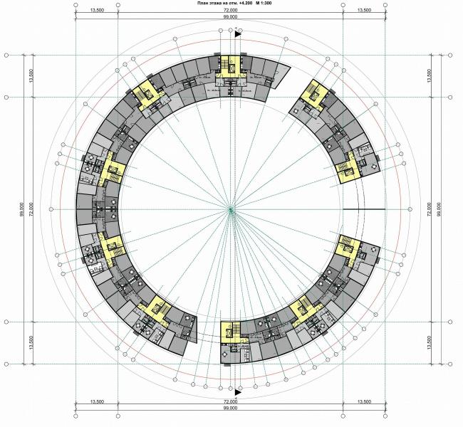 План 2 этажа Дома-кольца