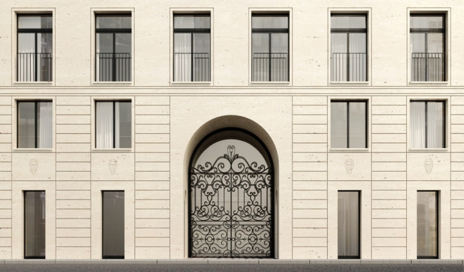 Жилой дом во 2-м Неопалимовском переулке. Фасадное решение © «Цимайло, Ляшенко и пратнеры»