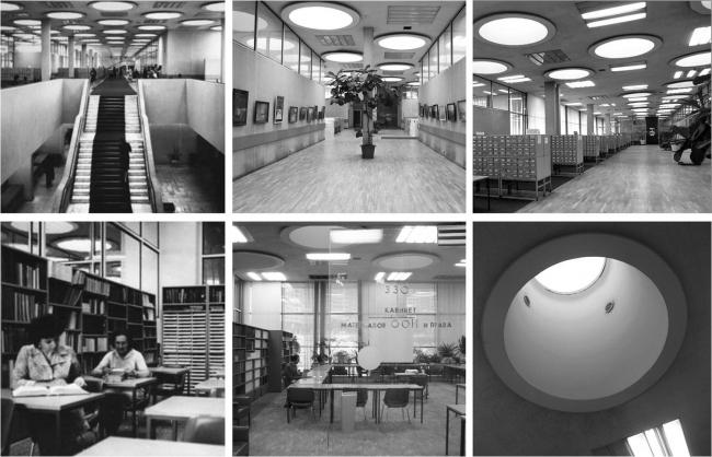 Библиотека ИНИОН РАН на Нахимовском проспекте. Интерьеры. Архивные фотографии предоставлены МКА
