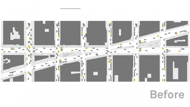 Таймс-сквер. Пешеходное пространство до реконструкции © Snøhetta