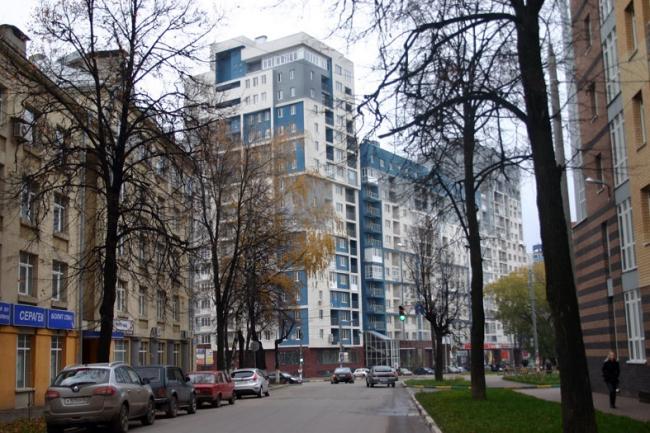 Жилой дом с торговыми и офисными помещениями на ул. Студёная © Архитектурная мастерская Сергея Туманина