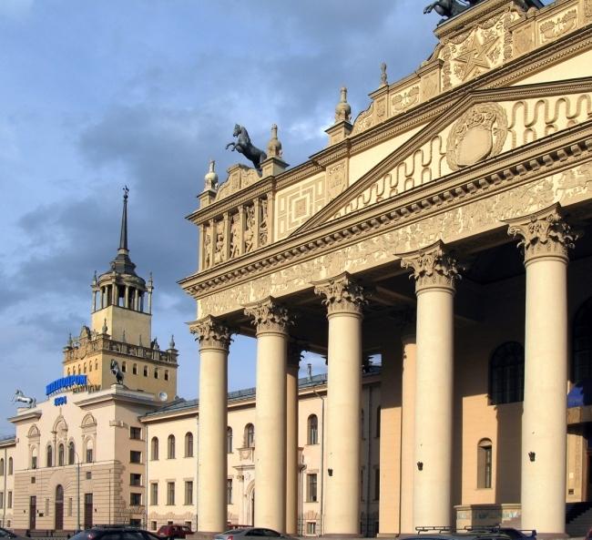 Здание Московского ипподрома, арх. И.В.Жолтовский, 1950-1955