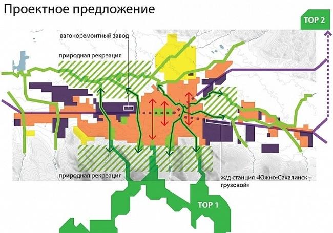 Концепция пространственного развития Южно-Сахалинска © «Остоженка»