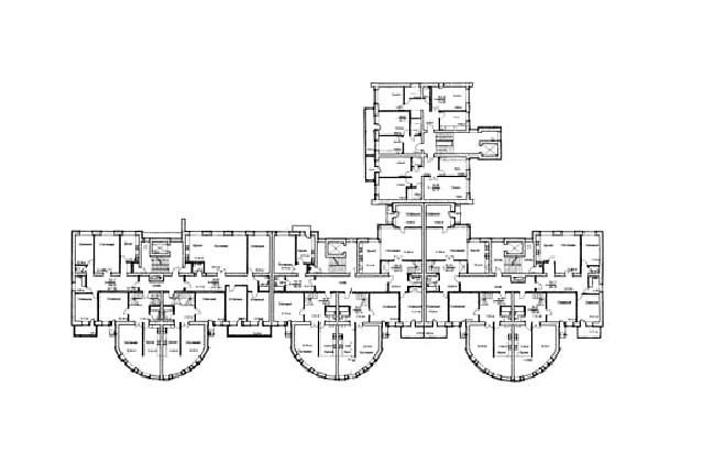 Жилой дом на ул. Фрунзе. План © Творческая мастерская архитектора Валерия Никишина