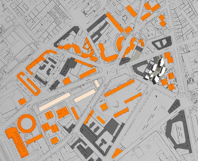 Застройка улицы От-Форм в Париже. План © Atelier Christian de Portzamparc