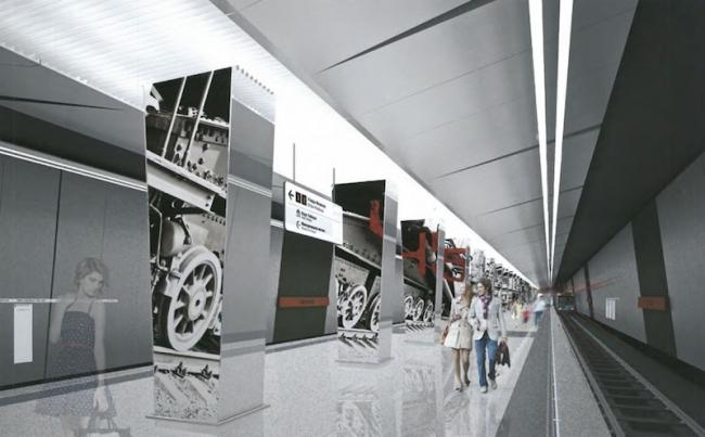 Станция метро «Минская» © ОАО «Метрогипротранс». Предоставлено пресс-службой «Москомархитектуры»