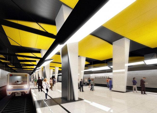 Станция метро «Шепелиха» © ОАО «Метрогипротранс»
