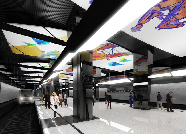 Станция метро «Ходынское поле» © ОАО «Метрогипротранс»