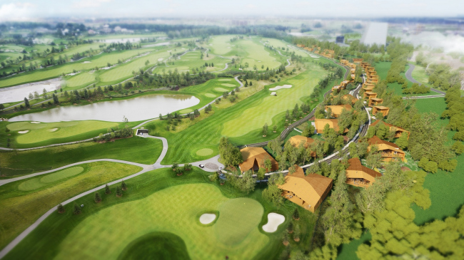 Курортный посёлок гольф-клуба «Сколково» © Архитектурная мастерская Тотана Кузембаева