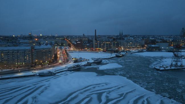 Отель Clarion. Вид из верхнего бара. Фото: Tarja Nurmi