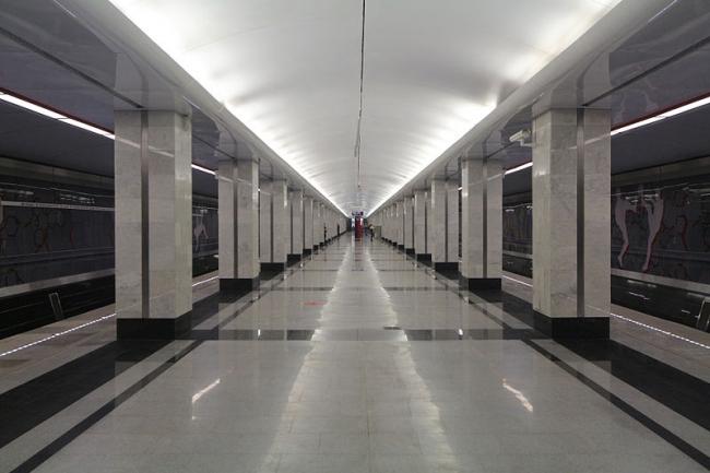 Станция метро «Спартак». Фото: Andrey Yurtaev via Wikimedia Commons. Фото находится в общем доступе