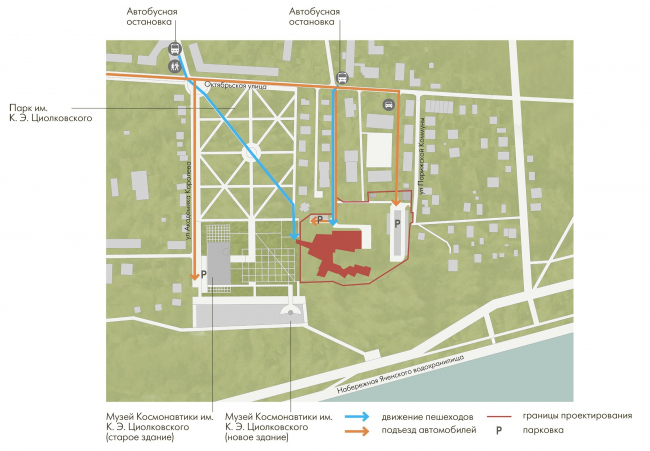 Innovation and Culture Center in Kaluga. Location plan © WOWHAUS