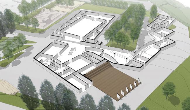 Инновационный культурный центр в Калуге. Первый этаж © WOWHAUS