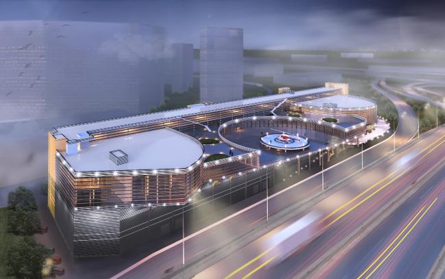 Концепция редевелопмента автоцентра на Дмитровском шоссе © Новая Земля (Москва)