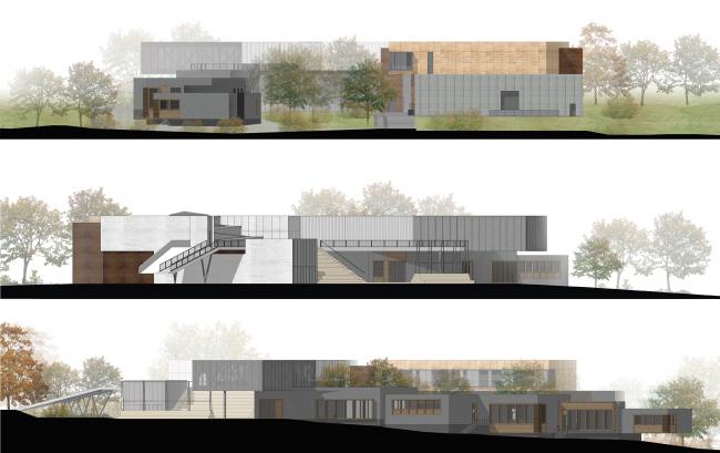 Инновационный культурный центр в Калуге. Фасады © WOWHAUS