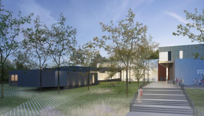 Инновационный культурный центр в Калуге. Двор © WOWHAUS