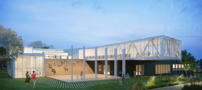 Инновационный культурный центр в Калуге. Амфитеатр  © WOWHAUS