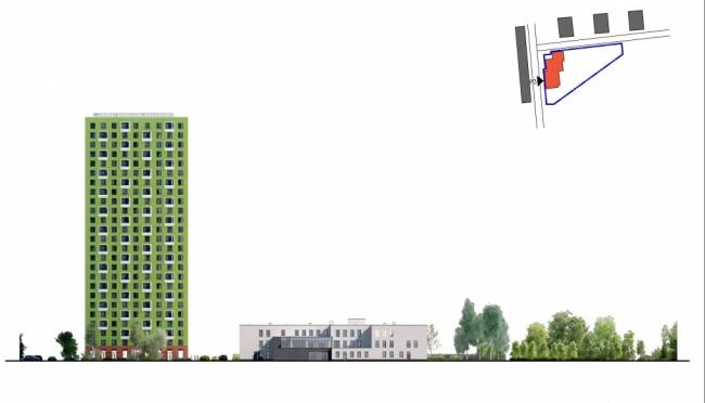 Детский сад в составе нового жилого района рядом с деревней Саларьево. Схема разверток фасадов © ООО «ПИК-Проект». Предоставлено пресс-службой «Москомархитектуры»