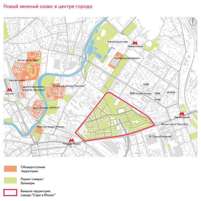 Многофункциональный комплекс «Символ» (очередь 1б). Ситуационный план в контексте городского окружения © ATRIUM