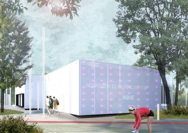 Концепция спортивного центра Nike в Парке Горького © Rhizome