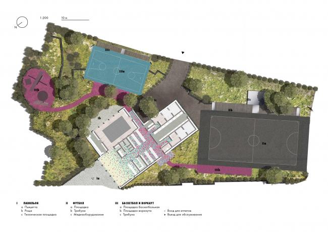 Концепция спортивного центра Nike в Парке Горького © АБ «Xора»