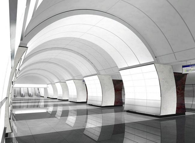Станция метро «Верхние Лихоборы» © ОАО «Метрогипротранс»