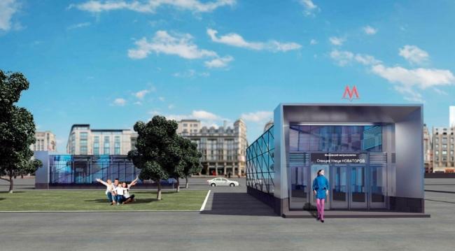 Станция метро «Улица Новаторов» © АО «Мосинжпроект». Предоставлено пресс-службой «Москомархитектуры»