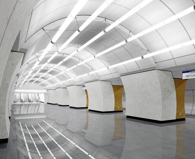 Станция метро «Окружная» © ОАО «Метрогипротранс»