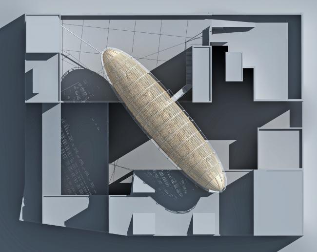 Дирижабль «Гулливер». Центр современного искусства DOX, Прага. Изображение предоставлено студией Huť architektury