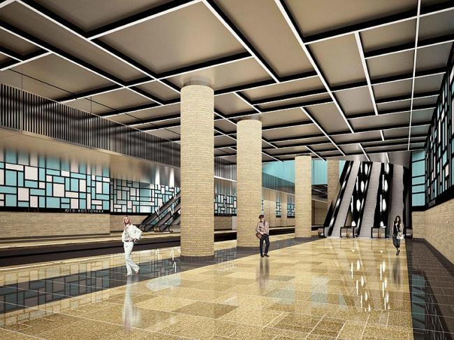Станция метро «Юго-Восточная» © АО «Мосинжпроект»
