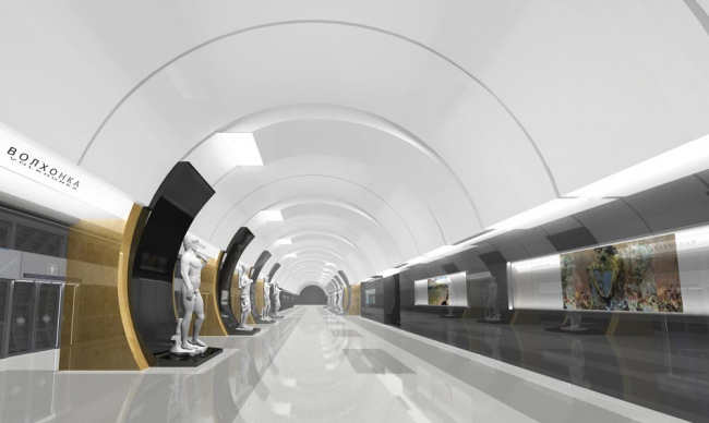 Станция метро «Волхонка» © ОАО «Метрогипротранс»