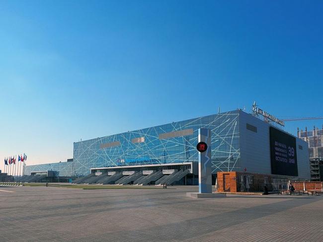 Спортивный комплекс «ВТБ Ледовый дворец». Фото: Brateevsky via Wikimedia Commons. Лицензия CC BY-SA 3.0