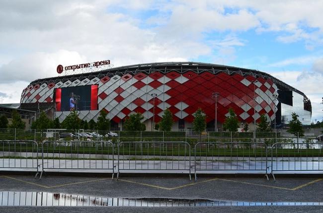 Стадион «Открытие Арена». Фото: Brateevsky via Wikimedia Commons. Лицензия CC BY-SA 4.0