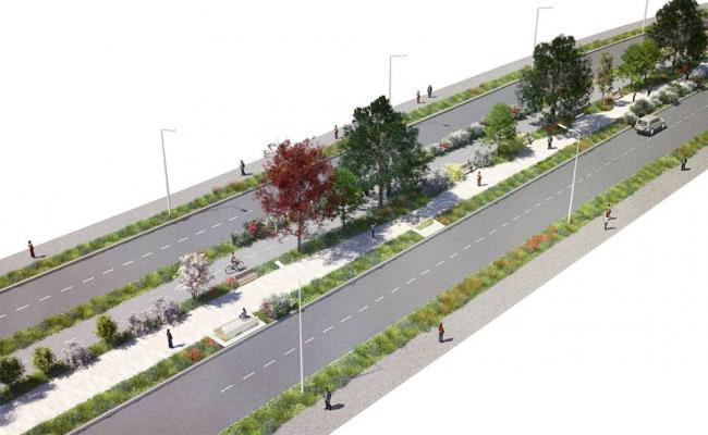 Большой бульвар в Сколково © Ландшафтная компания ARTEZA / Maxwan. Предоставлено пресс-службой «Москомархитектуры»