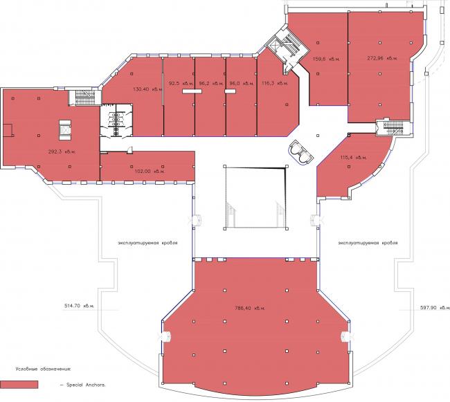 ТЦ Crystals. План 4 этажа © Weiss Design