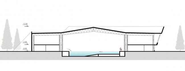 Универсальный спортивный комплекс с бассейном в Туле © Архитектурное бюро «А.Лен»