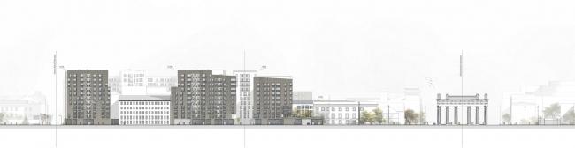 Проект жилого комплекса на Московском проспекте © Архитектурное бюро «А.Лен»