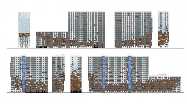 Жилой комплекс «Светлый мир «Я – Романтик…», I очередь. Корпус 1 © Архитектурное бюро «А.Лен»