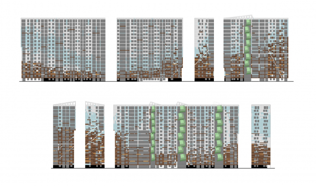 Жилой комплекс «Светлый мир «Я – Романтик…», I очередь. Корпус 3 © Архитектурное бюро «А.Лен»