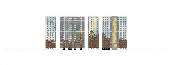 Жилой комплекс «Светлый мир «Я – Романтик…», I очередь. Корпус 5 © Архитектурное бюро «А.Лен»