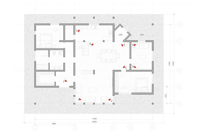 Интерьерные решения индивидуального жилого дома в Шлиссельбурге © Архитектурное бюро «А.Лен»