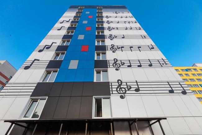 Жилой дом «Светлый Дом «Музыкант» © Архитектурное бюро «А.Лен»