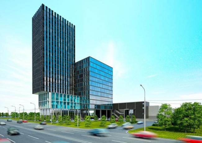 Офисно-гостиничный комплекс в Сосенском © Архитектурное бюро Тимура Башкаева. Предоставлено пресс-службой «Москомархитектуры»