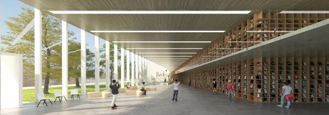 Конкурсный проект библиотеки в Гайд-парке. Авторы: Сон Хён Чхон, Чи Хён Мин (Seounghyun Cheon, Jihyeon Min), Южная Корея