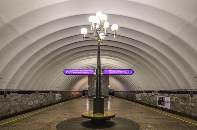 Станция метро «Старая деревня». Фото: Alex ′Florstein′ Fedorov via Wikimedia Commons. Лицензия CC BY-SA 4.0