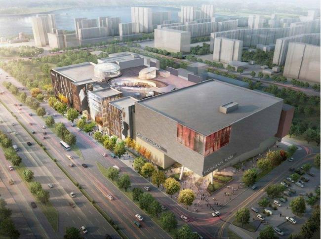 Многофункциональный торговый центр на Каширском шоссе © ОАО «Моспроект». Предоставлено пресс-службой «Москомархитектуры»