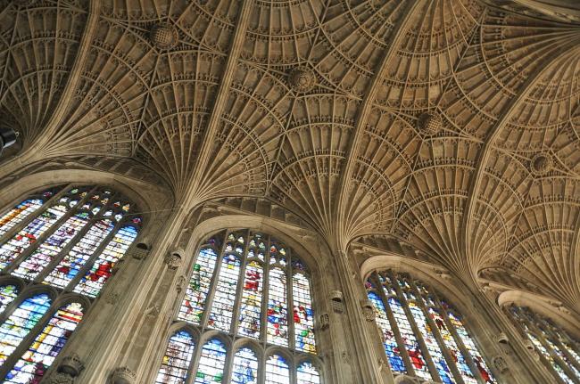 Капелла Кингс-колледжа в Кембридже. Автор: FA2010. Фотография находится в публичном доступе
